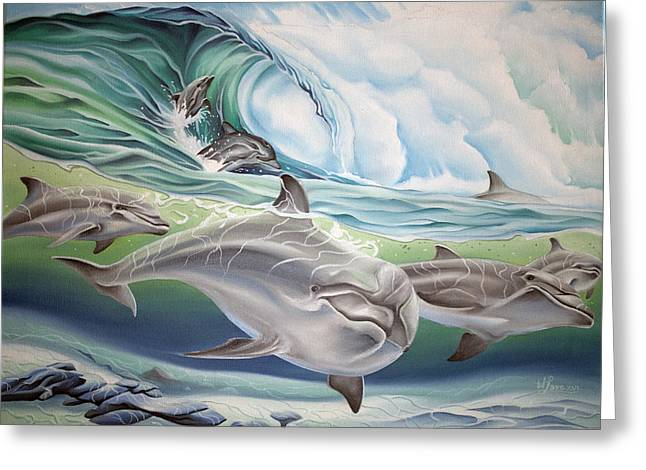 Dolphin 2 Greeting Card by William Love