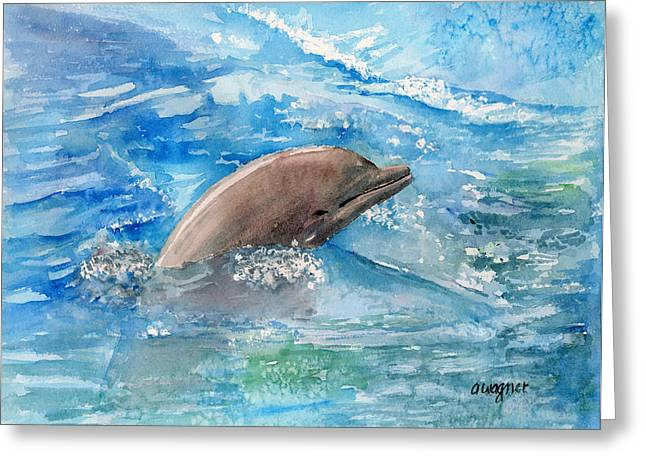 Dolphin  Greeting Card by Arline Wagner