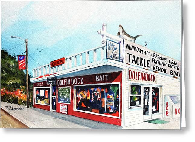 Dolphin Dock I Greeting Card