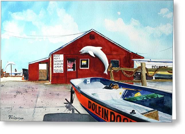 Dolphin Dock II Greeting Card