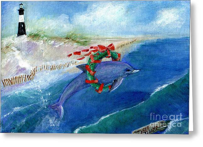 Dolphin Holiday Greeting Card