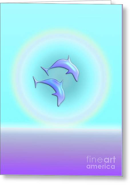 Dolphin Joy Greeting Card by Beverley Brown