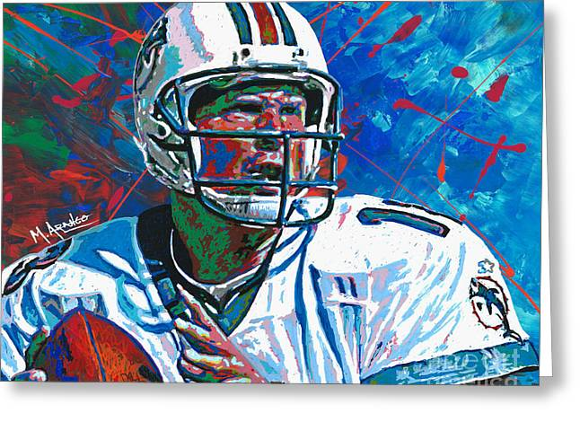 Dolphins Legend Greeting Card by Maria Arango
