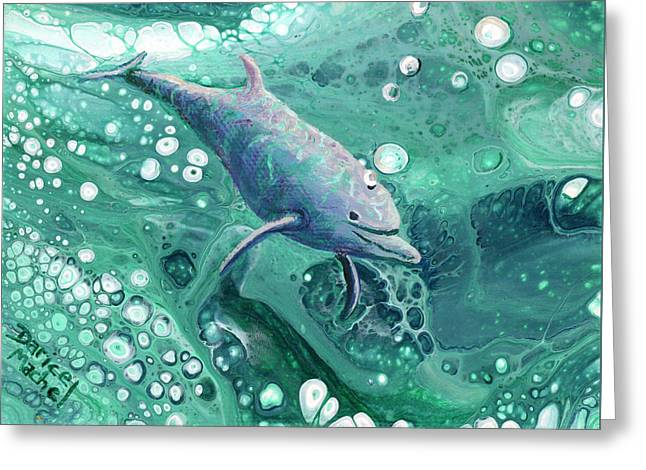 Greeting Card featuring the painting Dolphin Magic by Darice Machel McGuire