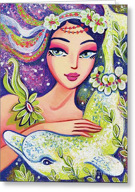 Dolphin Mermaid Greeting Card