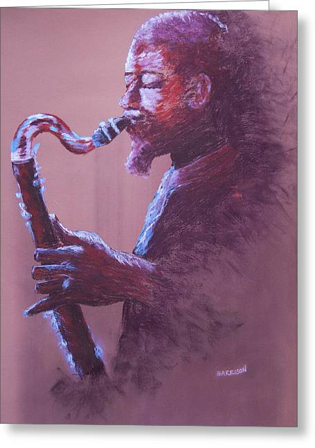Dolphy Greeting Card by Marina Garrison