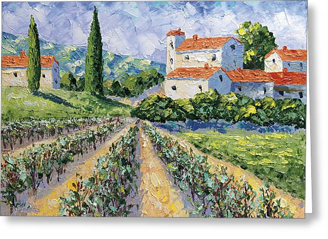 Domaine De Beaumet Provence Greeting Card