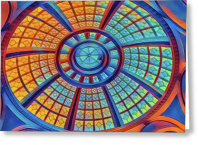 Dome Of Colors Greeting Card