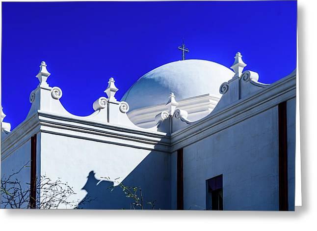 Dome Of San Xavier Mission - Tucson Arizona Greeting Card