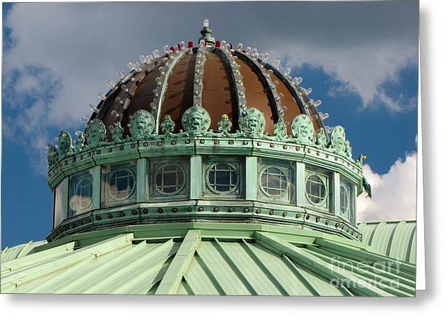 Asbury Park Carousel House Greeting Cards - Dome on the Asbury Park Casino Greeting Card by Ben Schumin