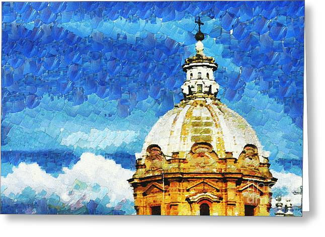 Dome Greeting Card by Stefano Senise