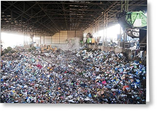 Domestic Waste Treatment Centre Greeting Card by Photostock-israel