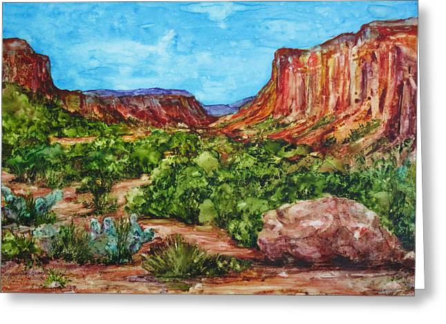 Dominguez Canyon Greeting Card