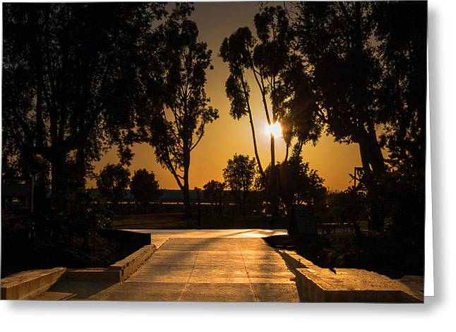 Dominguez Hills Sunset Greeting Card