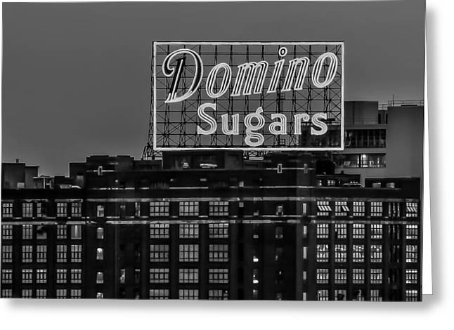 Domino Sugars Sign Greeting Card