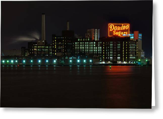 Domino Sugars Wide Greeting Card