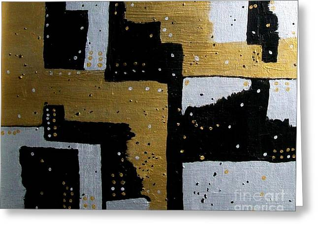 Dominos Greeting Card by Marsha Heiken