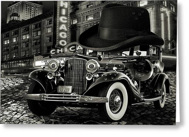 Don Cadillacchio Black And White Greeting Card by Marian Voicu