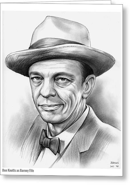 Don Knotts Greeting Card by Greg Joens