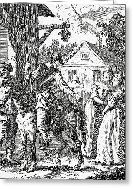 Don Quixote And Sancho Panza By William Greeting Card by Vintage Design Pics