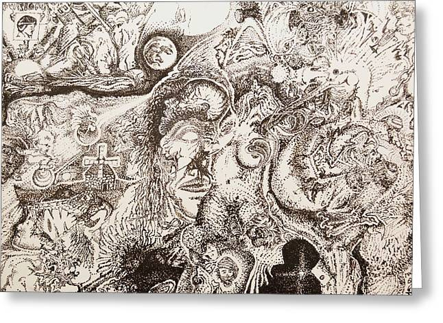 Don Quixote Greeting Card by Charles Kabrich