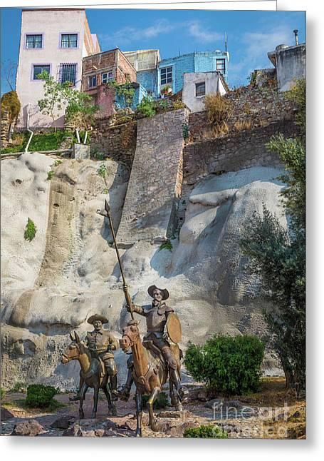 Don Quixote Y Sancho Panza Greeting Card by Inge Johnsson