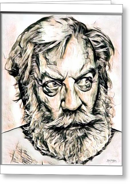Donald Sutherland Illustration Greeting Card by Scott Wallace