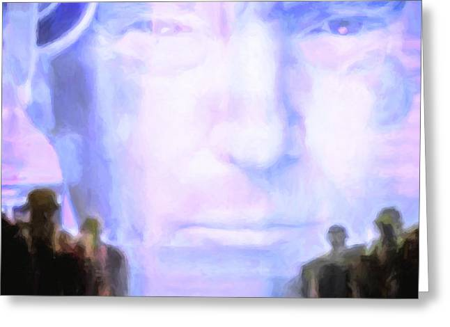 Donald Trump 1984 Square Greeting Card by Wingsdomain Art and Photography
