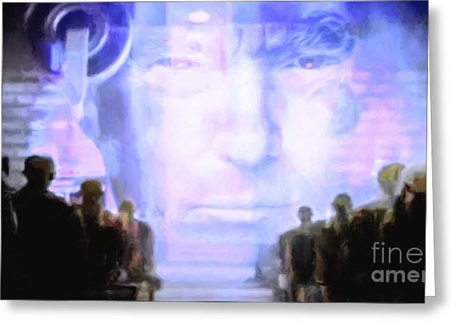 Donald Trump 1984 Greeting Card by Wingsdomain Art and Photography