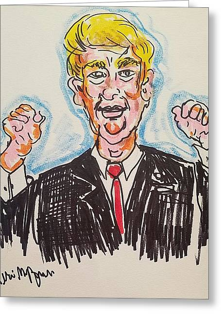 Donald Trump 45th President Greeting Card