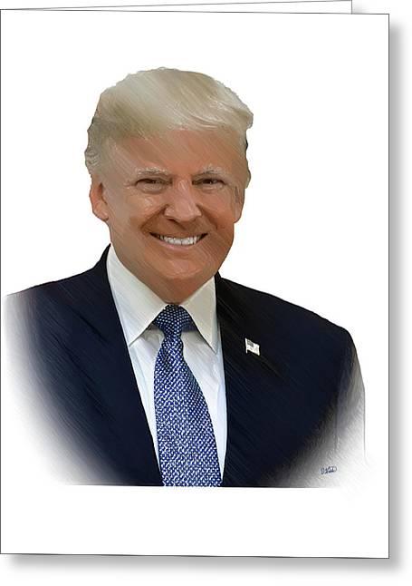 Donald Trump - Dwp0080231 Greeting Card