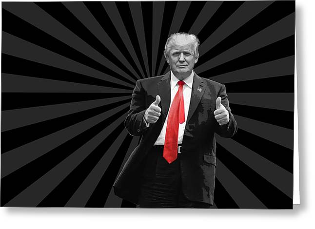 Donald Trump For President 2016 Usa Thumbs Up Greeting Card by Garaga Designs