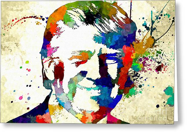 Donald Trump Grunge Greeting Card by Daniel Janda