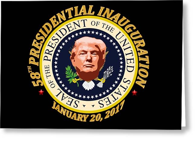 Donald Trump Inauguration Day Greeting Card