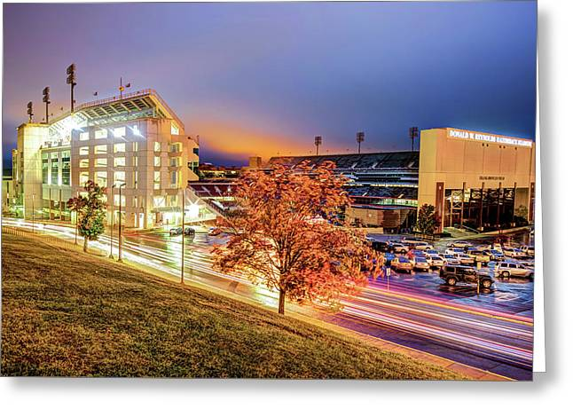 Donald W. Reynolds Stadium - Home Of The Arkansas Razorbacks College Football Team Greeting Card