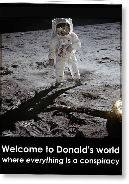 Donald World Greeting Card by Richard Reeve