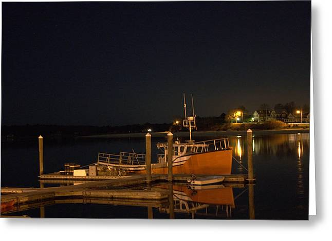 Greeting Card featuring the photograph Done Fishing by Greg DeBeck
