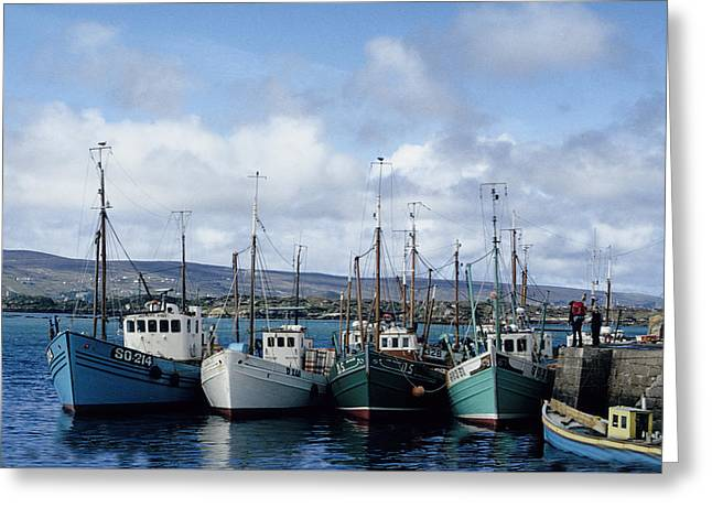Donegal Fishing Port Greeting Card