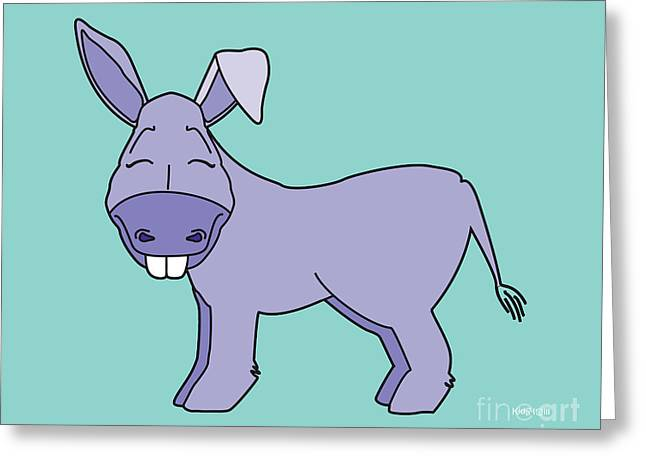 Donkey Created By Kidslolll Greeting Card by Kids Lolll
