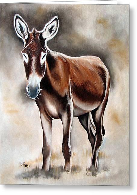 Donkey Greeting Card by Ilse Kleyn