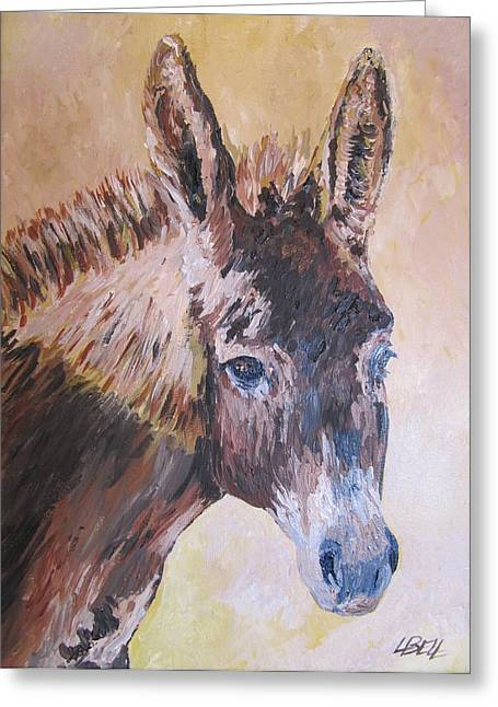 Donkey In The Sunlight Greeting Card by Leonie Bell