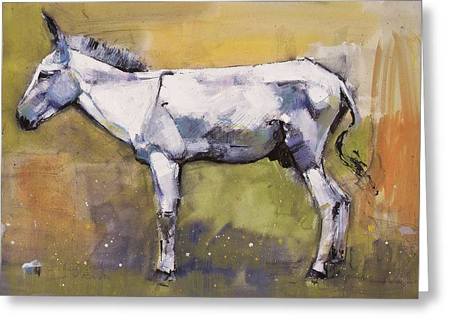 Donkey Stallion, Ronda Greeting Card by Mark Adlington