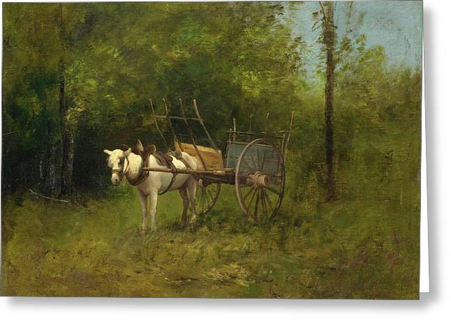 Donkey With Cart Greeting Card