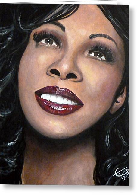 Disco Greeting Cards - Donna Summer Greeting Card by Tom Carlton