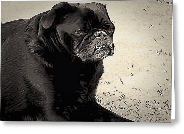 Donnas Bulldog Greeting Card
