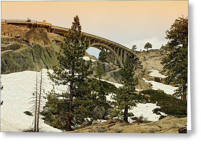 Famous Bridge Greeting Cards - Donner Greeting Card by Donna Blackhall