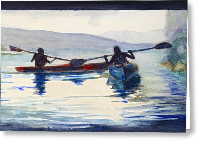 Donner Lake Kayaks Greeting Card