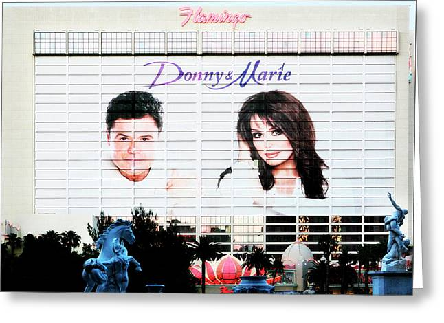 Donny And Marie Osmond Large Ad On Hotel Greeting Card
