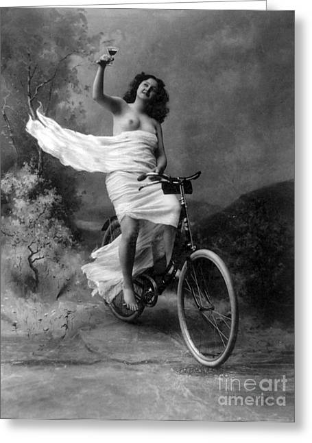 Dont Drink And Drive Nude Model 1897 Greeting Card by Science Source
