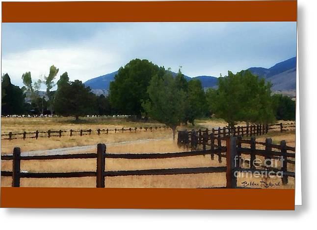 Dont Fence Me In Painting Greeting Card by Bobbee Rickard
